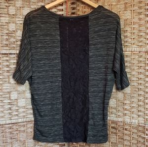 Forever 21 Dark Green Backlace Top